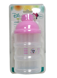 Disney 3-Layers Non-Spill Stackable Baby Feeding Dispenser Container, 0+ Months, Minnie Mouse, Pink