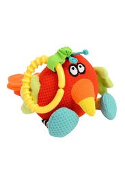 Dolce Shaker Parrot Shake A Tail Feather Stuffed Toy, Multicolour