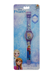 Disney Frozen Digital Watch for Girls, with Rotating Running Light Head, 3+ Years, Plastic, One Size, Multicolor