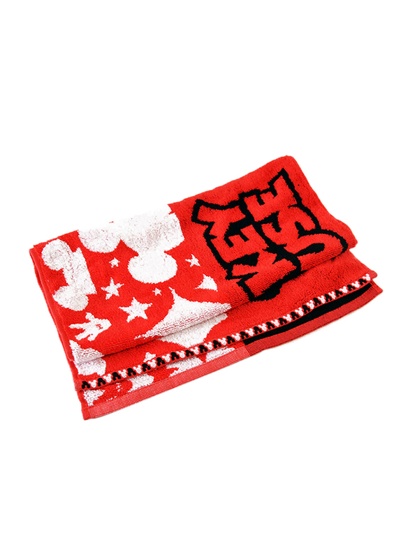 Disney Mickey Mouse Cotton Hand Towel for Boys, Red
