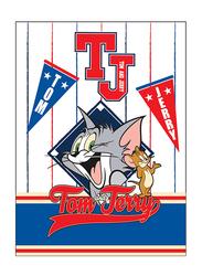 Warner Bros Tom & Jerry DC Comics Kids Light Weight Flannel Blanket, 160 x 220cm, White/Blue/Red