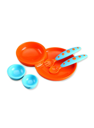 Boon Baby Plate and Bowl Set, Blue/Orange