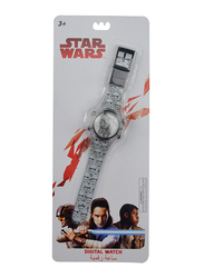 Lucas Star Wars Digital Watch for Boys, with Flashing Light, 3+ Years, One Size, Multicolor