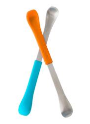 Boon Swap 2 In1 Baby Feeding Spoon, Orange/Blue
