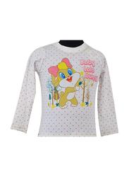 Warner Bros Lola Bunny Long Sleeve T-Shirt for Infant Girls, 12-18 Months, White