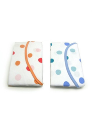 The First Year Cotton Easy Wrap Swaddler, 2-Pieces, Orange/Blue
