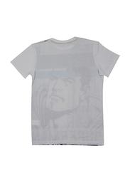 Lucas Warner Bros Superman Short Sleeve T-Shirt for Boys, Medium, Grey