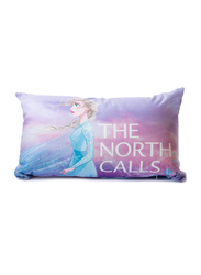 Disney Frozen The North Calls Typographic Sublimated Pillow, 50 x 30cm, Blue/Purple