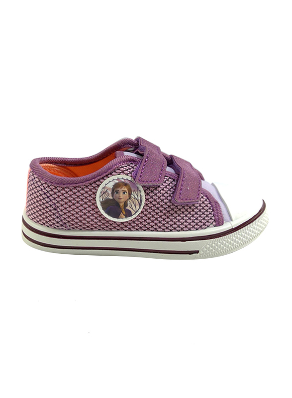 Disney Frozen II Velcro Sneakers for Girls, 32 EU, Lilac