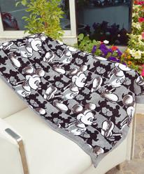 Disney Mickey Mouse Cotton Jacquard Towel for Boys, 60 x 120cm, Grey