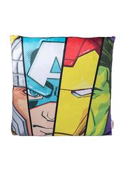 Marvel Avengers Digitally Printed Kids Cushion, 40 x 40cm, Blue/Yellow/Red