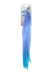 Disney Frozen II Hair Clip and Fake Hair for Girls, Purple