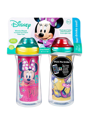 The First Years Minnie Insulated Sippy Cup, 2-Pieces, Red/Blue