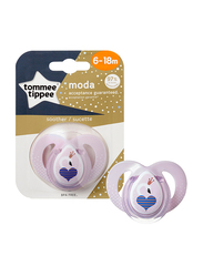 Tommee Tippee Closer to Nature Moda Soother for Girl, Swan, Purple