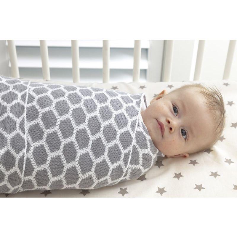 Playgro Wrap Cotton Honeycomb Blanket, Grey