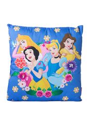 Disney Princess Digitally Printed Kids Cushion, 35 x 35cm, Blue