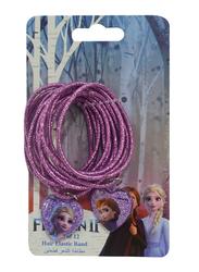 Disney Frozen II Hair Elastic Bands Set for Girls, 2-Pieces, Purple