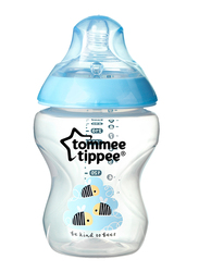 Tommee Tippee Closer to Nature Easi-Vent Decorative Feeding Bottle for Boy, 260ml, Blue