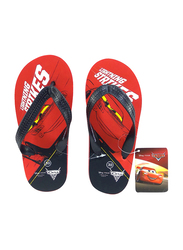 Disney Cars Flip Flops for Boys, 25 EU, Black/Red