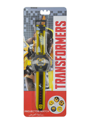 Hasbro Bumble Bee Transformers Projector Watch for Boys, with 5 Images Projections, 3+ Years, Plastic, One Size, Yellow