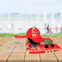 Disney Cars Beach Set for Boys, 4-Pieces, Red