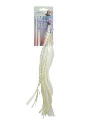Disney Frozen II Hair Clip and Fake Hair for Girls, Off White/Lavender