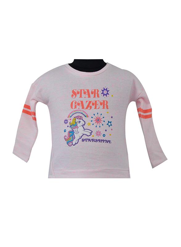 Hasbro MLP Long Sleeve T-Shirt for Infant Girls, 6-12 Months, Light Pink