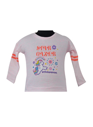Hasbro MLP Long Sleeve T-Shirt for Infant Girls, 6-12 Months, Light Pink