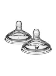 Tommee Tippee Closer to Nature Easi Vent Teats Unisex, Fast Flow, 2-Pieces, Clear