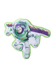 Disney Toy Story Buzz 3D Shaped Printed Cushion, 35cm, White/Purple