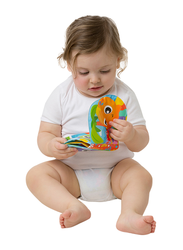 Playgro Splashing Fun Friends Bath Book for Kids, Blue/Yellow/Green/Red/Orange