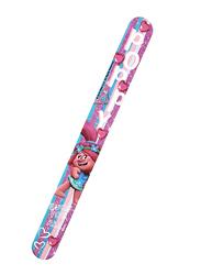 Universal Trolls Printed Kids Silicone Slap Bracelet For Girls, with Glitter, Pink