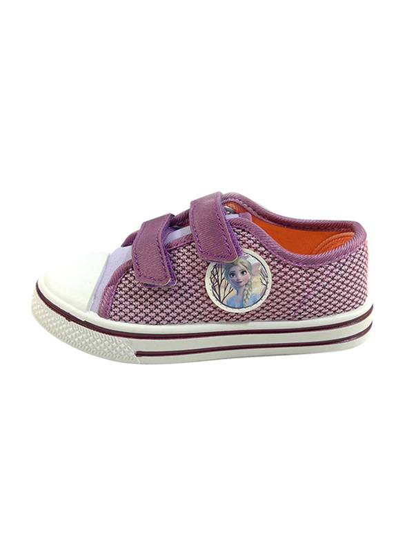Disney Frozen II Velcro Sneakers for Girls, 26 EU, Lilac