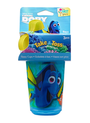 The First Years Finding Dory Take and Toss Sippy Cup, 10oz, 3-Pieces, Blue