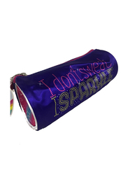 Nickelodeon JoJo Siwa I Don't Sweet I Sparkle 7.2-Inch Pencil Case for Girls, Blue