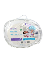 Babyworks Before & After Pregnancy Pillow, White