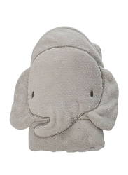 Playgro Home Elephant Hooded Towel for Kids, Grey