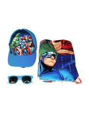 Marvel Avengers Beach Set for Boys, 4-Pieces, Blue