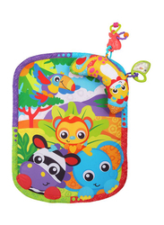 Playgro Zoo Play Time Tummy Time Mat and Pillow, Multicolour