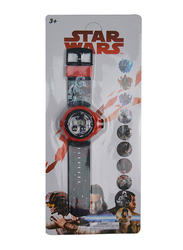 Lucas Star Wars Projector Watch for Boys, 3+ Years, One Size, Black/Red