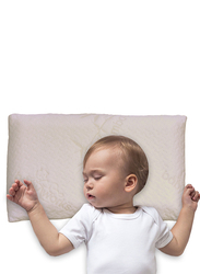 Babyworks Toddler Pillow, with Removable Bamboo Pillowcase, White