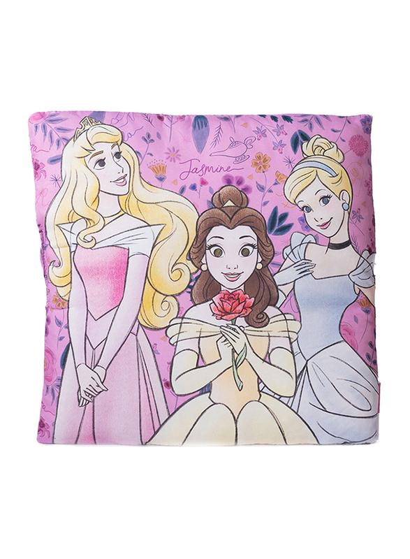Disney Princess Motif Digitally Printed Kids Cushion, 40 x 40cm, Multicolor
