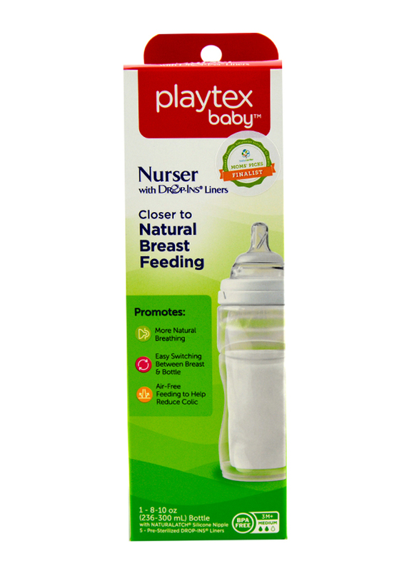 Playtex Anti-Colic Nurser with Drop-Ins Liners, 236ml, Clear