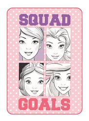 Disney Disney Princess Squad Goals Kids Light Weight Flannel Blanket, 160 x 220cm, Light Pink