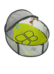 BBLuv Nindo Mini 2 in 1 Travel Bed & Play Tent, Green/Black