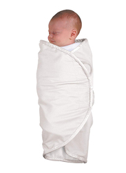 The First Year Organic Cotton Swaddler, 2-Pieces, White