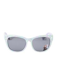 Disney Frozen II Full Rim Wayfarer Sunglasses for Girls, Black Lens, 3 Years+, Blue