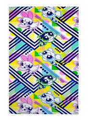 Cartoon Network Power Puff Girls Beach Bath Towel for Girls, 70 x 140cm, Blue/Yellow/Pink