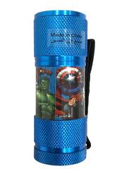 Marvel Avengers Portable LED Torch Flashlight, with Wrist Strap, Dark Blue