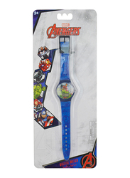 Marvel Avengers Digital Watch for Boys, 3+ Years, One Size, Blue